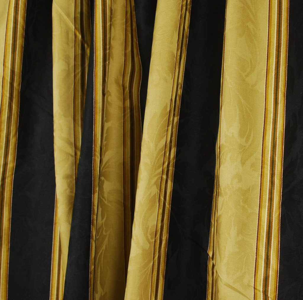 Black And Cream Striped Curtains Black and Gold Curtain Tie Ba