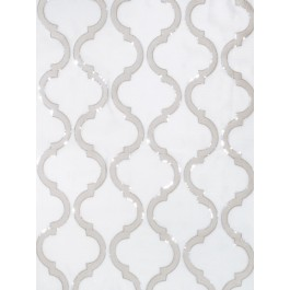 Shimmering Lattice Silver Fog Fabric