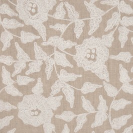 TOSH NATURAL/WHITE RM Coco Fabric | The Fabric Co