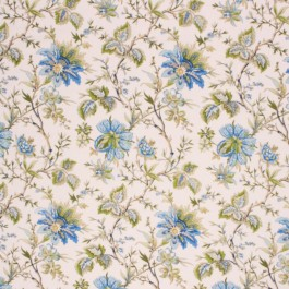 WILLIAMSBURG GARDEN BLUEBELL RM Coco Fabric | The Fabric Co