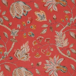 COTSWALD GARDEN CRANBERRY RM Coco Fabric | The Fabric Co