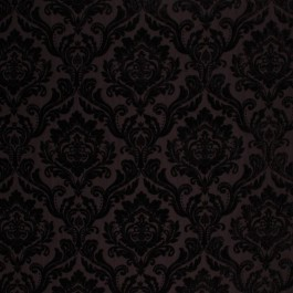 RITZ DAMASK BLACK RM Coco Fabric | The Fabric Co