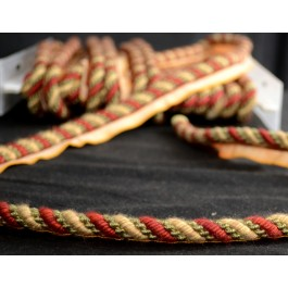 Large Braided Lip Cord Trim Red Green 1011T 1511