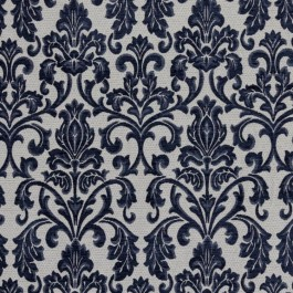 Tivoli Damask Naval RM Coco Fabric | The Fabric Co