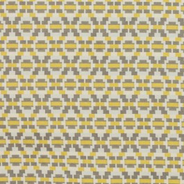 Step Up Trellis Gold Gray RM Coco Fabric | The Fabric Co