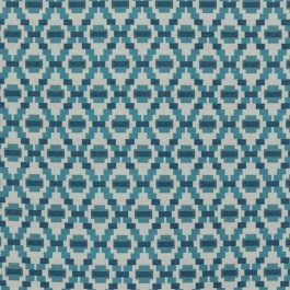 Step Up Trellis Blue Sky RM Coco Fabric | The Fabric Co
