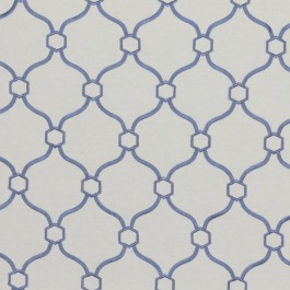 Picardie Trellis Wedgewood RM Coco Fabric | The Fabric Co