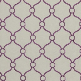 Picardie Trellis Lilac RM Coco Fabric | The Fabric Co