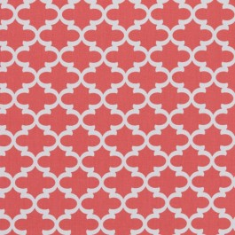 Casbah Trellis Coral RM Coco Fabric | The Fabric Co