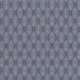 Ogee Trellis Denim RM Coco Fabric | The Fabric Co