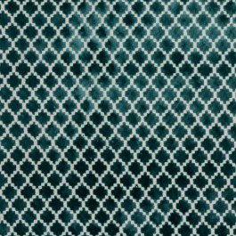 Pique Trellis Turquoise RM Coco Fabric | The Fabric Co