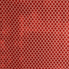 Pique Trellis Red RM Coco Fabric | The Fabric Co
