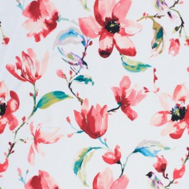Garden Path Coral RM Coco Fabric | The Fabric Co