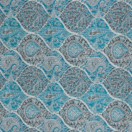 Bridlewood Paisley Teal RM Coco Fabric | The Fabric Co