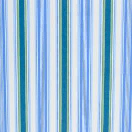 Le Cirque Stripe Bluebell RM Coco Fabric | The Fabric Co