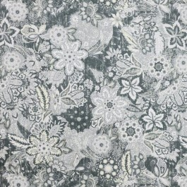 Hillwood Garden Pewter RM Coco Fabric | The Fabric Co