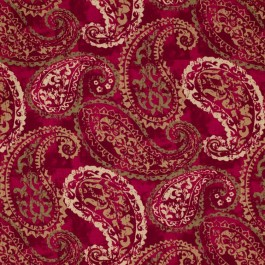 La Scala Vintage Red RM Coco Fabric | The Fabric Co