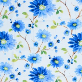 Flower Pop Sapphire RM Coco Fabric | The Fabric Co