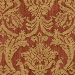 Delacroix Damask Terracotta RM Coco Fabric | The Fabric Co