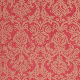 Delacroix Damask Poppy RM Coco Fabric   The Fabric Co