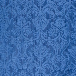Delacroix Damask Navy RM Coco Fabric | The Fabric Co