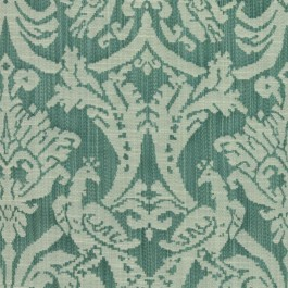 Delacroix Damask Peacock RM Coco Fabric | The Fabric Co