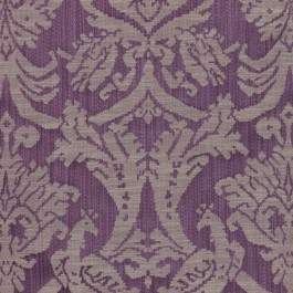 Delacroix Damask Violet RM Coco Fabric | The Fabric Co