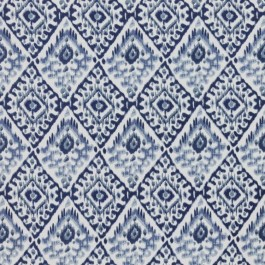 Akbar China Blue RM Coco Fabric | The Fabric Co