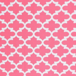 Ponti Trellis Candy Pink RM Coco Fabric | The Fabric Co