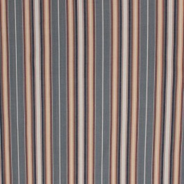 Maitland Stripe Pewter RM Coco Fabric | The Fabric Co