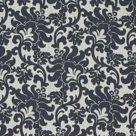 Wentworth Damask Black RM Coco Fabric | The Fabric Co
