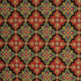 Mykonos IO Green/Red RM Coco Fabric   The Fabric Co