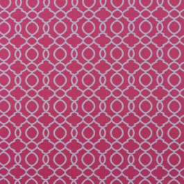 Kahala Trellis IO Flamingo RM Coco Fabric | The Fabric Co