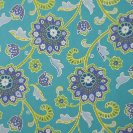 Del Mar IO Turquoise RM Coco Fabric | The Fabric Co