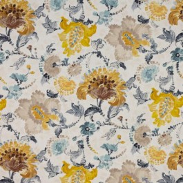 Brushstroke Floral Gold Rush RM Coco Fabric
