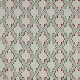 Constantinople Trellis Tuscan Red RM Coco Fabric