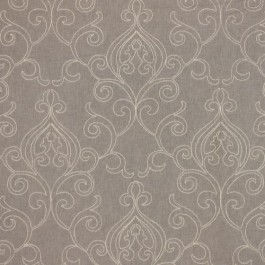 Arcadia Scroll Sterling RM Coco Fabric