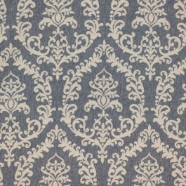 Grove Park Damask Faded Denim RM Coco Fabric