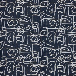 Doodle Navy RM Coco Fabric