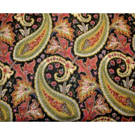 Paisley Jacobean Floral Plumtree Paisley Spice Waverly Fabric