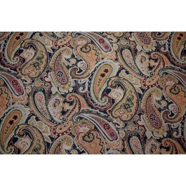 Paisley Tapestery Upholstery Leeland Navy Regal Fabric