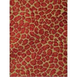 Brown Red Spots Ruby Golding Fabric