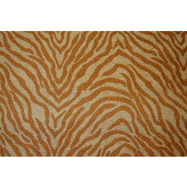 Tan Brown Chenille Tiger Upholstery Regal Fabric Tiger Auburn