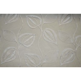 Rialto Snow Silver White Embroidered Sheer Kaufmann Fabric