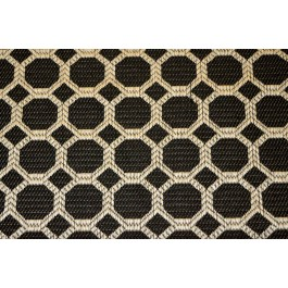 Dax Black Taupe Octagon Geometric Upholstery Regal Fabric