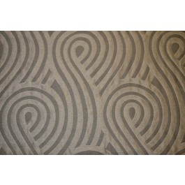 Swirl Alloy Grey Geometric Contemporary Circle Upholstery Fabric