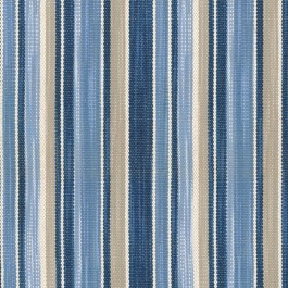 St. Charles Indigo Blue Grey Textured Woven Stripe Upholstery Waverly Fabric