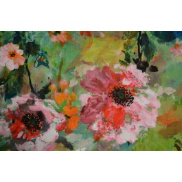 Juliet Multi Watercolor Abstract Monet Floral Print Regal Fabric