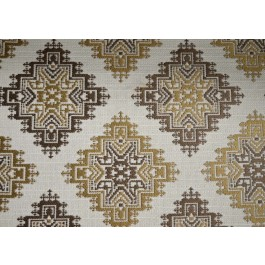 Halcyon Mocha Brown Southwest Tribal Medallion Upholstery Golding Fabric