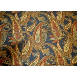 Caleigh Heritage Blue Paisley Print Braemore Fabric